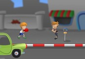 Boxing-game-with-children-in-the-street